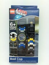 LEGO The Lego Movie BAD COP With Mini-Figure Link Kids Watch 8020226 NEW!