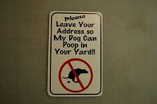 Address yard  no poop stoop and scoop lawn sign dog pick up after your dog