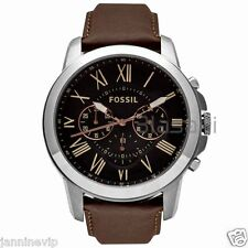 Fossil Original FS4813 Men's Grant Brown Leather Watch 44mm