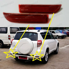 1Pair Red Rear Bumper Reflectors For Toyota RAV4 2009-2012