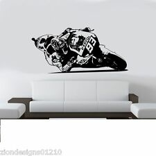 Marc Marquez 93 Wall Art 01 MOTO RACER Decalcomania Grafica Adesiva Unica