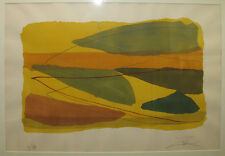 Larry Zox Abstract Pochoir Listed New York Abstract Expressionist Color Field