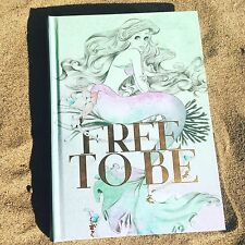 New Disney Sketch Art Little MERMAID JOURNAL NOTEBOOK Free To Be w RIBBON MARKER