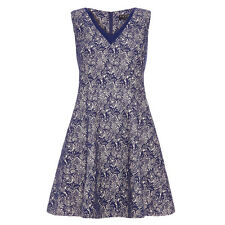 %Fever London Wilmore Fit and Flare Kleid blau Gr.36 (Uk10, EU38)