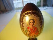 Wood Lacquer Easter Egg Made In Russia Decorative, Collectibles    #8