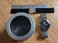 Orient Mako EM65. Black. Mesh shark band + rubber strep