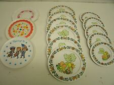 Vintage Chilton Holly Hobbie Bonnet Girl child's dishes play set