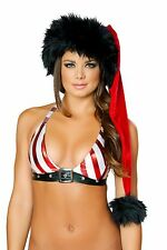 J. Valentine Red/Black Deluxe Santa Hat Christmas Costume 444