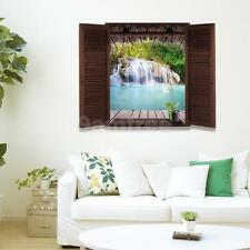 Waterfall 3D Window View Removable Wall Art Sticker Vinyl Decal Home Decor