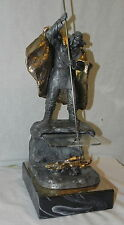 Beautiful Michael Ricker Pewter Indian Sculpture Winter Harvest No 157/350  1994