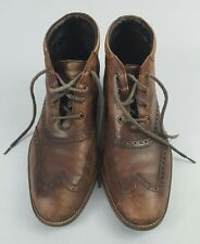 Cole Haan Liam Chukka II Wingtip Brown Leather Boots Shoes 11053 Mens Size 8.5