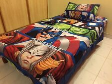 THE AVENGERS! TWIN/SINGLE BEDDING SET DUVET COVER, SHEETS, 2 PILLOW, COTTON