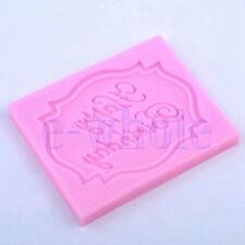 silicone Joyeux Anniversaire fondant Mold Décoration de gâteau Moule Cutter GF