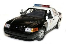 2001 FORD CROWN VICTORIA LAPD ORIGINAL VERSION POLICE CAR 1/18 BY DARON 60326