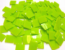 """110 Mosaic Tiles 1/2"""" ZESTY LIME GREEN Smoothie Stained Glass"""
