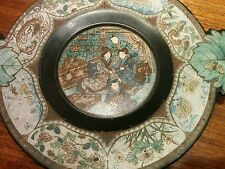 Japanese Edo period oriental Chinoiserie wooden plate 1850