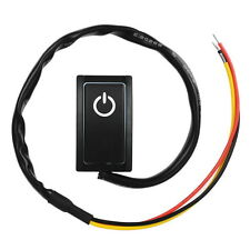 LED Indicator DC 12V 200mA OFF ON Car Paste Type Pushbutton Push Button Switch