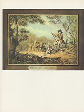 "1974 Vintage HUNTING ""PHEASANT SHOOTING #2"" DOGS, FLINTLOCK COLOR Art Lithograph"