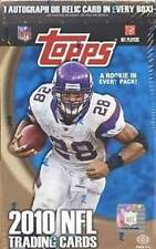 2010 Topps Football Factory Sealed Hobby Box - 1 Autograph or Relic Card per Box