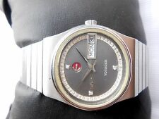 Rare Vintage Swiss 32mm Gray Oval Dial Rado Voyager Automatic Gents WristWatch