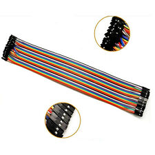 40Pcs 30cm 2.54mm Dupont Wire Cable Color Jumper Cable Row Female to Female
