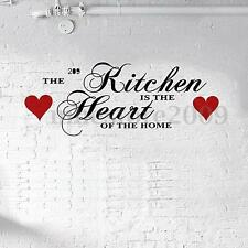 The Kitchen is The Heart of The Home Wall Sticker Decal Decor Vinyl Art Quote