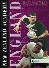 ENGLAND 1998 RUGBY TOUR PROGRAMM v NEW ZEALAND ACADEMY 16th June at Invercargill
