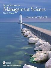 Introduction to Management Science (9th Edition), Taylor, Bernard W., Good Book