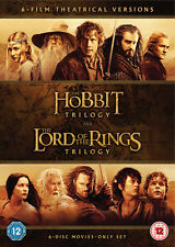 The Hobbit Trilogy/The Lord of the Rings Trilogy DVD Box Set NEW