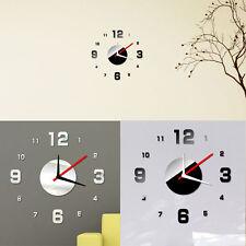 Moderno BRICOLAJE Reloj Etiqueta engomada de las superficies de espejo 3D