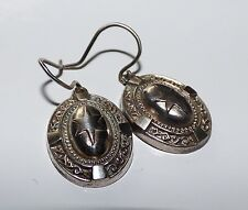 VICTORIAN DROP EARRINGS ETRUSCAN EARRINGS AESTHETIC SILVER STAR VICTORIAN DANGLE