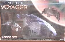 Vintage STAR TREK Voyager 3 Ship Set Model Kit-REVELLE-FREE S&H(STMO-3607)