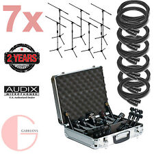 Audix DP7 7PC Drum Mic Package w/ 7PC XLR Cable and 7PC Mic Stand Bundle