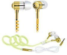 Kopfhörer Headset Headphones In Ear Gold für MP3 Player Smartphone Tablet