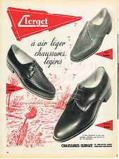 PUBLICITE ADVERTISING   1957   CLERGET  chaussures