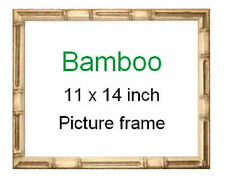 "11x14"" Tropical Bamboo picture frame ~ Made in Hawaii ~ New with glass included"