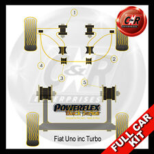 Fiat Uno inc Turbo Powerflex Black Complete Bush Kit