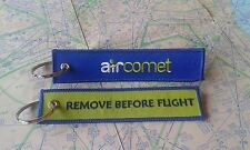 Air Comet remove before flight keyring keychain spain españa