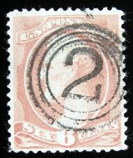 6¢ - LINCOLN - ROSE – USED – Sc #208 – 1882 – PF CERTIFIED