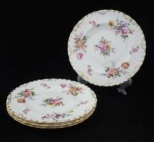 ROYAL CROWN DERBY - DERBY POSIES - 4 SALAD PLATES - BURFORD SHAPE
