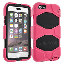 Griffin Survivor Tutti Terrain CASE COVER PER IPHONE 6 Plus/6 Splus Rosa/Nero