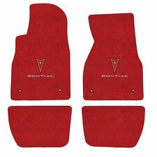 Pontiac G6  Red Floor Mat Set 4 Pce with Pontiac Emblem and logo 2005 2008