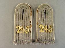 Paar Schulterstücke Leutnant des Reserve Infanterie Regiment No.245, RIR, 104636