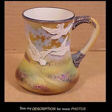 Nippon Mug w/ Moriage Birds in Flight