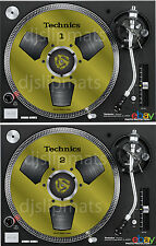 PAIR (2) Ltd.Ed Technics Japan Reel to Reel RS-1700 DJ Slipmats slipmat GOLDY