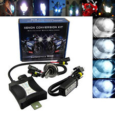 55W H4 Motorcycle HID Hi/Low Bi-Xenon Conversion Kit H/L Bulb Headlight 6000K
