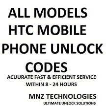 ALL HTC UNLOCK CODES~ALL MODELS~ASK US IF OTHERS FAILED TO GIVE YOU CODE