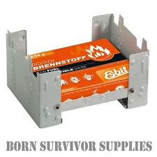 ESBIT POCKET STOVE & FUEL - Compact Folding Hexi Cooker, Army, Camping, Survival