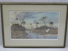 "FRAMED PHIL CAPEN SIGNED & NUMBERED 380/950 LITHO ""SUWANNEE ESTUARY"" + COA"