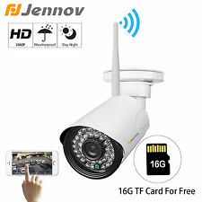 Jennov 1080P Wireless WiFi IP Camera Home Security Surveillance Outdoor SD Card